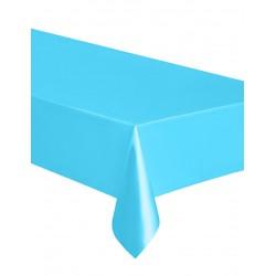 Nappe rectangulaire en plastique bleu pastel 137 x 274 cm gouter anniversaire fête mariage retraite bapteme déco table neuve