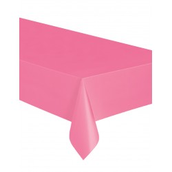 Nappe rectangulaire en plastique rose 137 x 274 cm gouter anniversaire fête mariage retraite bapteme déco table neuve