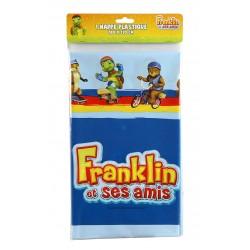 Nappe rectangulaire en plastique jetable Franklin 130 x 180 cm gouter anniversaire fête enfant déco table neuve