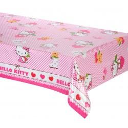 Nappe rectangulaire en plastique jetable Hello Kitty 120 x 180 cm gouter anniversaire enfant fête déco table neuve