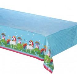 Nappe rectangulaire en plastique jetable Licorne 120 x 180 cm gouter anniversaire enfant fête déco table neuve