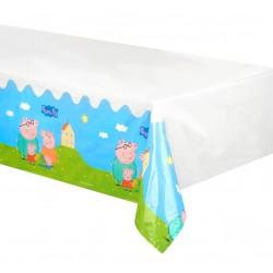Nappe rectangulaire en plastique jetable Peppa Pig 130 x 180 cm gouter anniversaire enfant fête déco table neuve