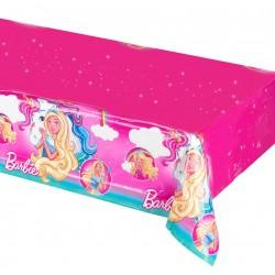 Nappe rectangulaire en plastique jetable Barbie Dreamtopia 120 x 180 cm gouter anniversaire enfant fête déco table neuve