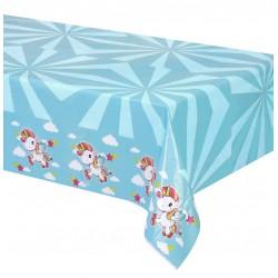 Nappe rectangulaire en plastique jetable Licorne 180x130cm gouter anniversaire enfant fête déco table neuve