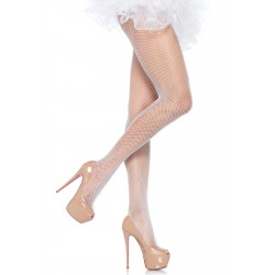 Collant fine résille spandex blanche grande marque LEG AVENUE S/XL SOUS VETEMENT SEXY IDEE CADEAU ST VALENTIN NOEL NEUF