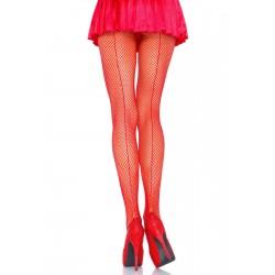 Collant Couture Résille rouge grande marque LEG AVENUE S/XL SOUS VETEMENT SEXY IDEE CADEAU ST VALENTIN NOEL NEUF