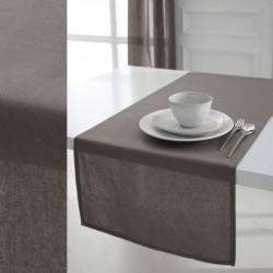 Chemin de table en 100 % coton tissu Beige 50x150cm décoration neuf