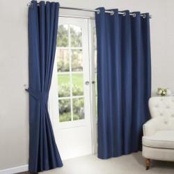 Rideau Isolant thermique et occultant bleu marine 140x240 cm décoration fenêtre de maison neuf