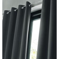 Rideau Isolant thermique et occultant Gris foncé 140x240 cm décoration fenêtre de maison neuf