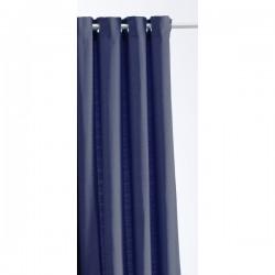 Rideau Jacquard Paille de Riz Bleu Marine140 x 260 cm cm déco maison neuf