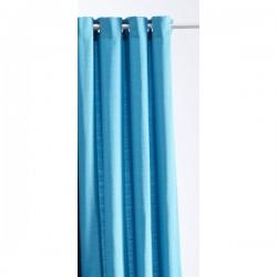 Rideau Jacquard Paille de Riz bleu Turquoise 140 x 260 cm cm déco maison neuf