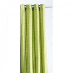 Rideau Jacquard Paille de Riz Vert anis 140 x 260 cm cm déco maison neuf