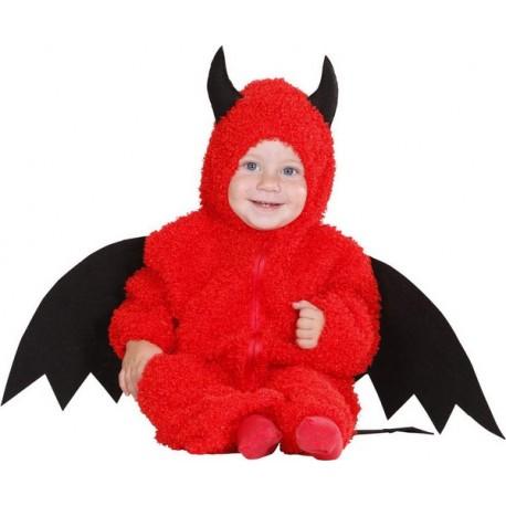 Déguisement petit démon rouge bébé taille 6/9 mois ou 1/2 ans carnaval fete halloween neuf