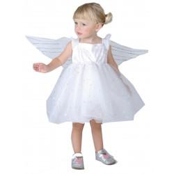 Déguisement ange bébé fille 6/12 mois carnaval anniversaire fête noël neuf