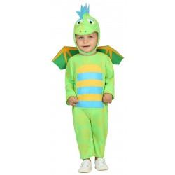 Déguisement dinosaure bébé vert 1/2 ans carnaval anniversaire fete Halloween neuf