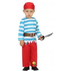 Déguisement moussaillon pirate bébé 1/2 ans carnaval anniversaire fête Halloween neuf
