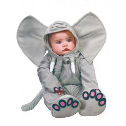 Déguisement combinaison éléphant gris bébé 1/2 ans carnaval anniversaire fête Halloween neuf