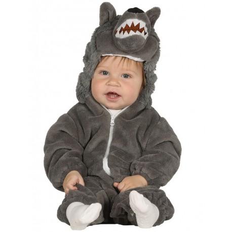 Déguisement combinaison loup gris bébé 1/2 ans carnaval anniversaire fête Halloween neuf