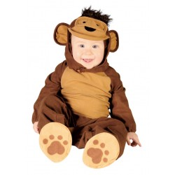 Déguisement combinaison singe marron bébé 1 à 2 ans carnaval anniversaire fête Halloween noel neuf