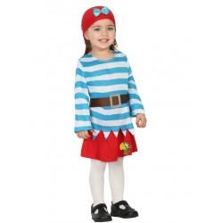 Déguisement moussaillon pirate rayé bébé 1 à 2 ans carnaval anniversaire fête Halloween neuf