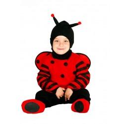Déguisement combinaison coccinelle avec capuche bébé 1/2 ans carnaval anniversaire fête Halloween noel neuf
