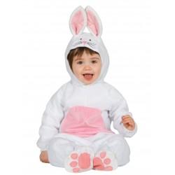 Déguisement combinaison lapin blanc et rose bébé 1/2 ans carnaval anniversaire fête Halloween noel neuf