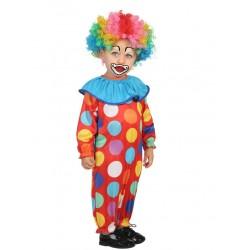Déguisement combinaison petit clown à pois bébé 1/2 ans carnaval anniversaire fête Halloween noel neuf