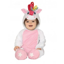 Déguisement combinaison avec capuche licorne blanche bébé 1/2 ans carnaval anniversaire fête Halloween noel neuf