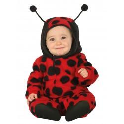 Déguisement combinaison avec capuche coccinelle bébé 1/2 ans carnaval anniversaire fête Halloween noel neuf