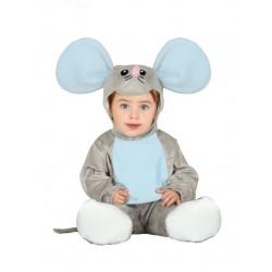Déguisement combinaison avec capuche souris grise bébé 1/2 ans carnaval anniversaire fête Halloween noel neuf