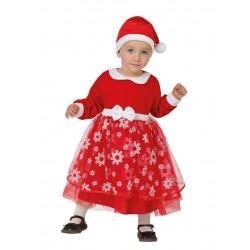 Déguisement princesse rouge avec flocons bébé Noël 6/12 mois carnaval fête noel neuf