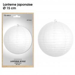 Boule chinoise lampion blanc 15 cm déco salle mariage anniversaire baptême luminaire chambre neuf