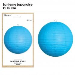 Boule chinoise lampion bleu 15 cm déco salle mariage anniversaire baptême luminaire chambre neuf