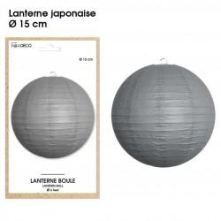 Boule chinoise lampion gris 15 cm déco salle mariage anniversaire baptême luminaire chambre neuf