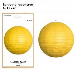 Boule chinoise lampion jaune 15 cm déco salle mariage anniversaire baptême luminaire chambre neuf