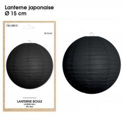 Boule chinoise lampion noir 15 cm déco salle mariage anniversaire baptême luminaire chambre neuf