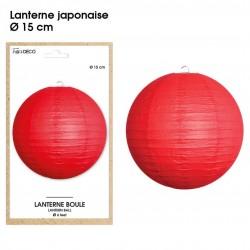 Boule chinoise lampion rouge 15 cm déco salle mariage anniversaire baptême luminaire chambre neuf