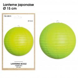 Boule chinoise lampion vert 15 cm déco salle mariage anniversaire baptême luminaire chambre neuf