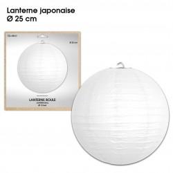 Boule chinoise lampion blanc 25 cm déco salle mariage anniversaire baptême luminaire chambre neuf