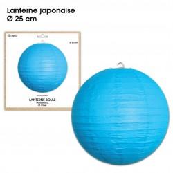Boule chinoise lampion bleu 25 cm déco salle mariage anniversaire baptême luminaire chambre neuf