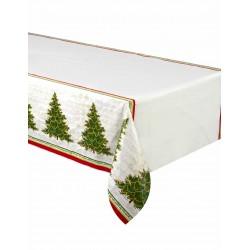 Nappe en plastique Arbre de Noël 137 x 213 cm fête déco table noel neuve