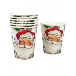 Lot de 8 Gobelets en carton Père Noël 250 ml fête décoration de table pour noel neuf