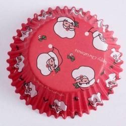 Lot de 60 Moules à cupcake père noël jetable fête gateau décoration table de noel neuf