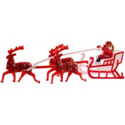Décoration de gâteau Père Noël avec traîneau 14 cm fête décoration de gâteaux pour noël neuf