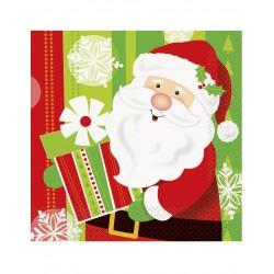 Lot de 16 Serviettes en papier Petit Père Noël 33 x 33 cm fête décoration de table pour noel neuf