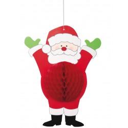 Suspension en papier Père Noël 35.5 cm fête décoration de salle maison pour noël neuve
