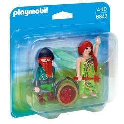 Playmobil 6842 - Fée et Nain de La Forêt licence officielle jeux idée cadeau anniversaire noël neuf