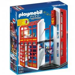 Caserne de pompiers Playmobil City Action avec système d'alarme licence officielle jeux idée cadeau anniversaire noël neuf