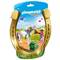 Playmobil 6969 - Poney à décorer Coeur licence officielle idée cadeau anniversaire noël neuf