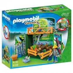 Playmobil Country 6158 Coffre Enclos des animaux de la forêt avec soigneur licence officielle idée cadeau anniversaire noël neuf